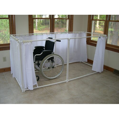 LiteShower Wheelchair Accessible Portable Shower Stall Recliner Model R