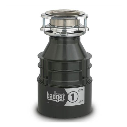 InSinkErator Badger Series 1/3 HP Garbage Disposal with Continuous Feed