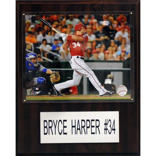 C & I Collectibles MLB Bryce Harper Washington Nationals Player Framed Memorabilia Plaque