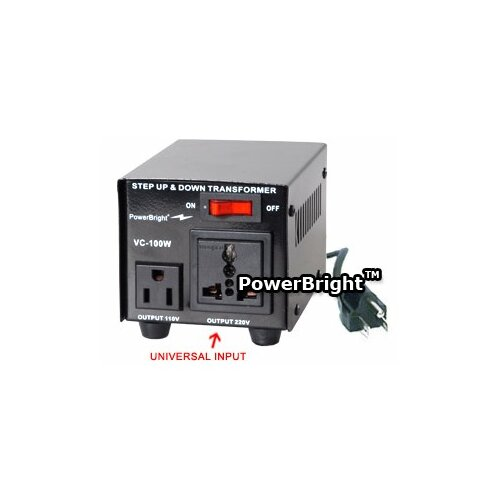 Power Bright 100W Step Up / Down Voltage Transformer