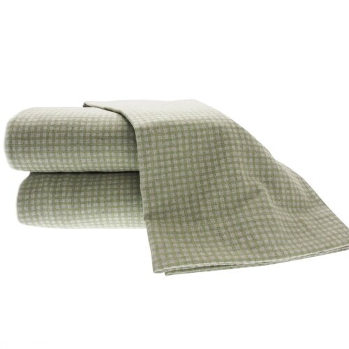 Heather Ground Flannel Gingham Cotton Sheet Set