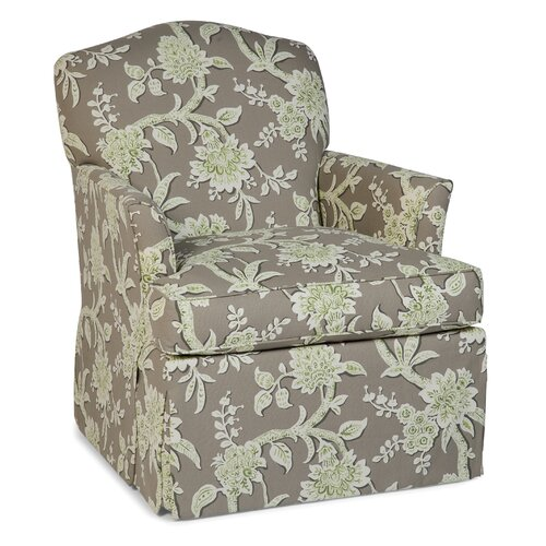 Skirted Swivel Glider Arm Chair