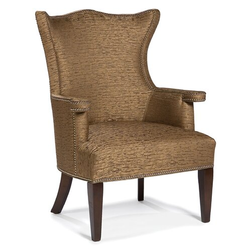 shaped back transitional wingback chair wayfair