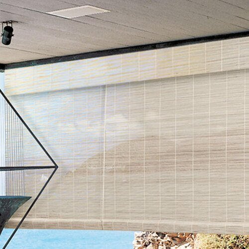 "Radiance Imperial Matchstick Bamboo Roll-Up Blind with 6"" Valance in Natural"
