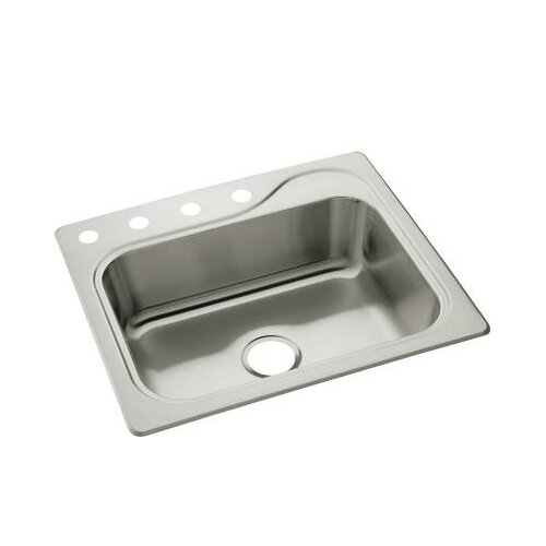 "Sterling by Kohler Southhaven 25"" x 22"" Single Bowl 4-Hole Kitchen Sink"