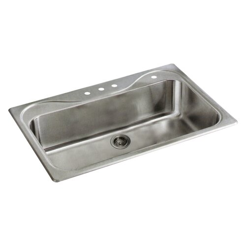 "Sterling by Kohler Southhaven 33"" x 22"" Self Rimming Single Bowl Kitchen Sink"
