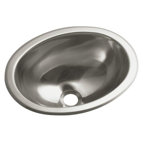 Sterling by Kohler Entertainment No Hole Oval Undermount / Self Rimming Bathroom Sink