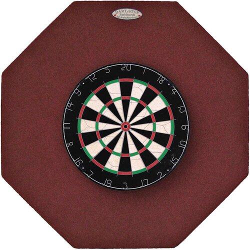 "Dart-Stop Original 36"" Octagonal Backboard in Burgundy"