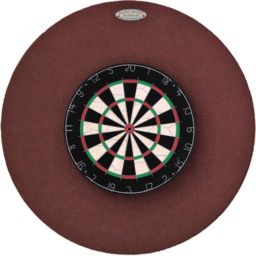 "Dart-Stop Original 36"" Round Backboard in Burgundy"