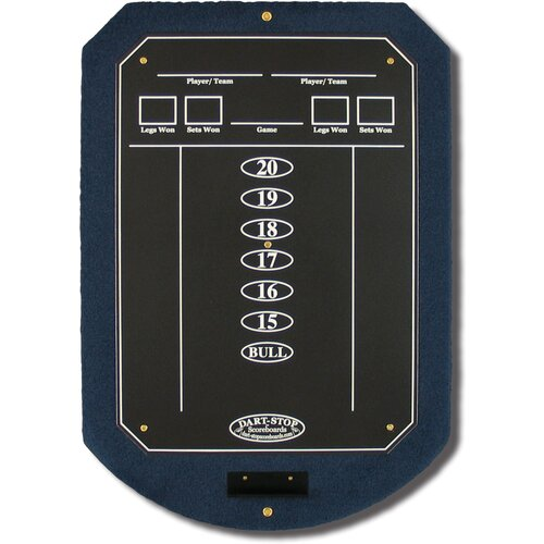 Dart-Stop Indigo ScoreStation with Matte Black Chalk Surface