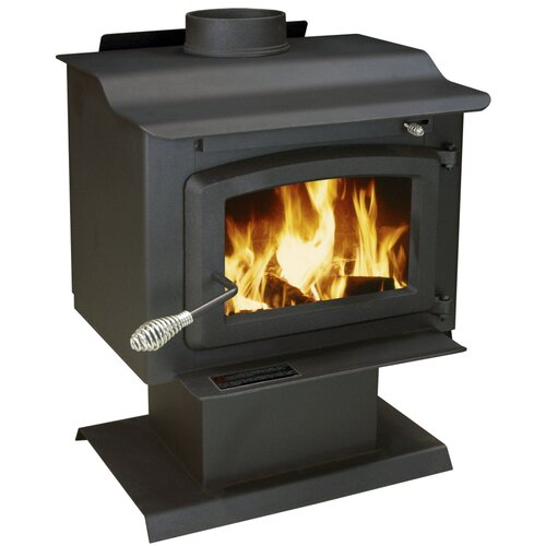 United States Stove Company EPA Certified 1100 Square Foot Pedestal Wood Heater with Blower