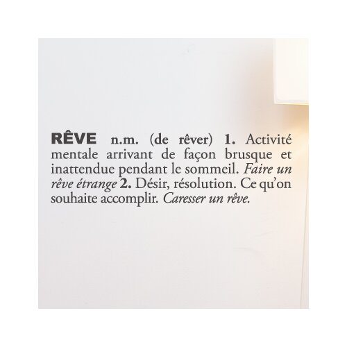 ADZif Blabla Rêve (French) Wall Decal