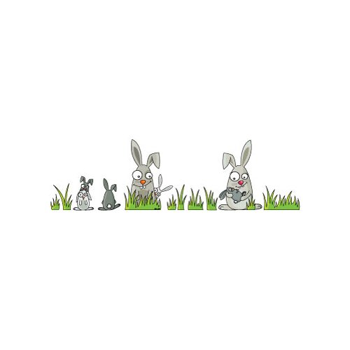 ADZif Ludo Rabbits Wall Decal