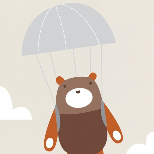 ADZif Piccolo Yuri Goes Parachuting Wall Sticker