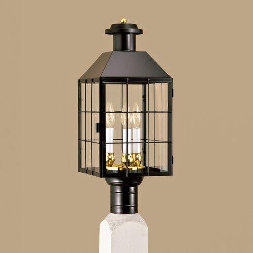 Norwell Lighting American Heritage 3 Light Outdoor Post Lantern