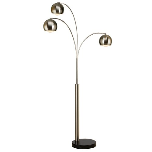 trend lighting corp triad 3 light arc floor lamp reviews wayfair. Black Bedroom Furniture Sets. Home Design Ideas