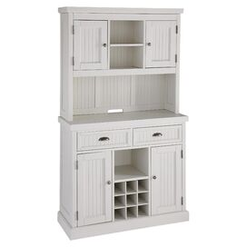2-Piece Nantucket Buffet & Hutch Set in White