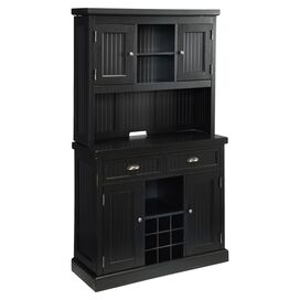 2-Piece Nantucket Buffet & Hutch Set in Black