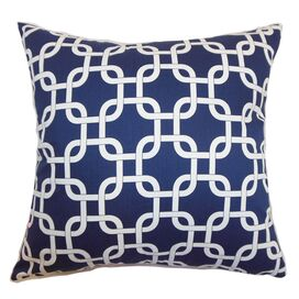 Quinn Pillow in Blue Twill
