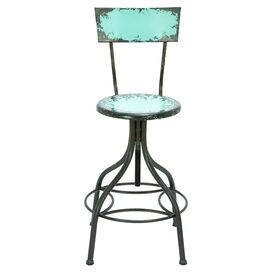 Wickenburg Barstool in Aqua