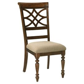 Woodmont Side Chair in Cherry and Beige