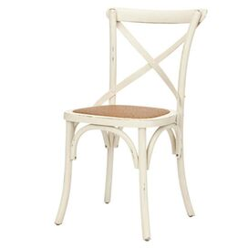 Remy Side Chair in Antiqued White