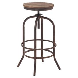 Twin Peaks Barstool in Distressed Natural