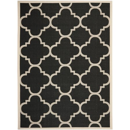 Courtyard Black & Beige Rug