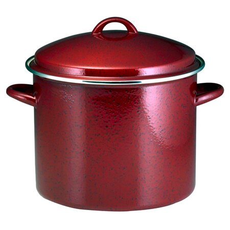 Paula Deen Enamel on Steel 12 Qt. Stock Pot in Red