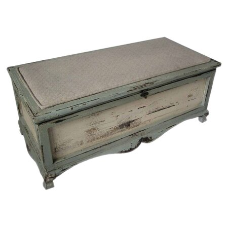 Shabby Bench Chest in Blue