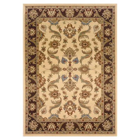 Adana Cream & Brown Persian Rug
