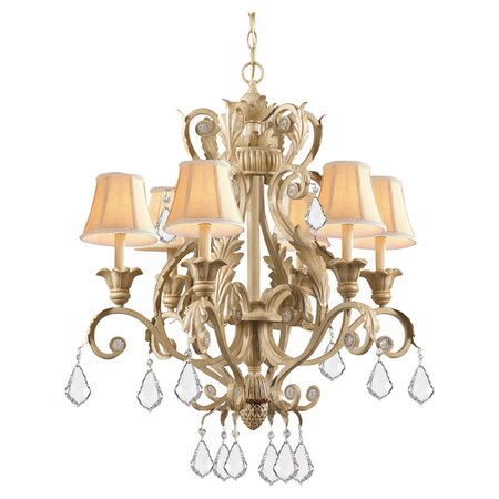 Winslow 6 Light Chandelier in Champagne