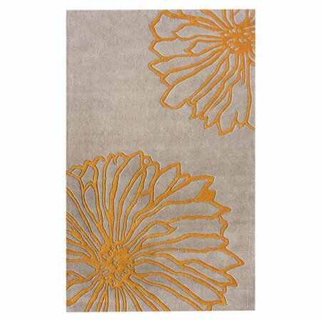 Gradient Yellow Floral 6' x 9' Rug