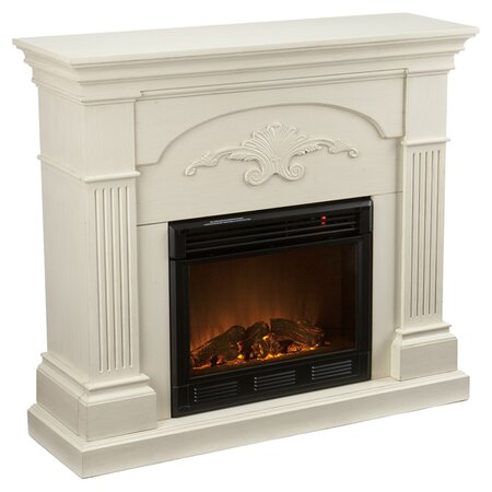 Lincoln Harvest Electric Fireplace in Ivory