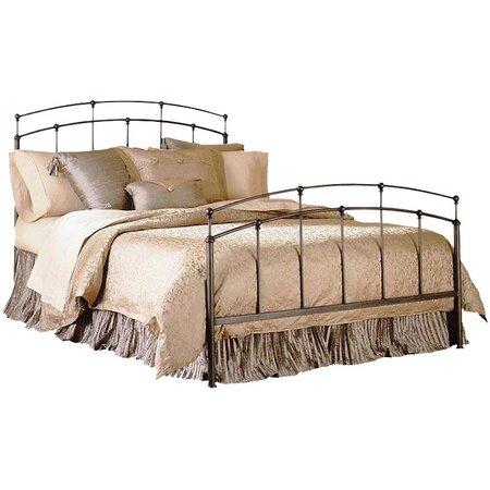 Fenton Slat Metal Bed in Black Walnut