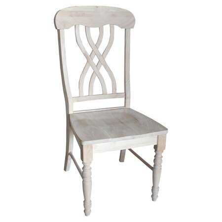 Unfinished Lattice Side Chair in Natural (Set of 2)