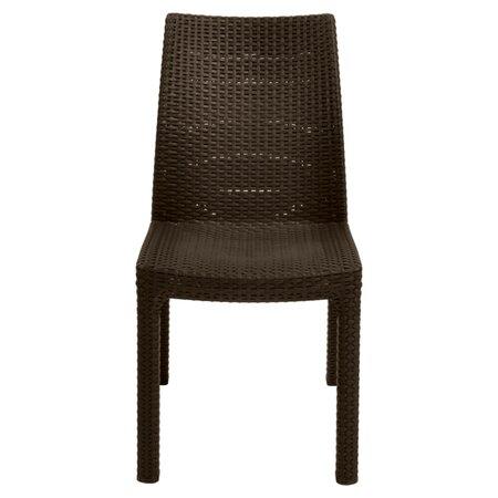 Milan Side Chair in Dark Brown (Set of 2)