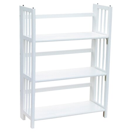 Folding Bookcase in White