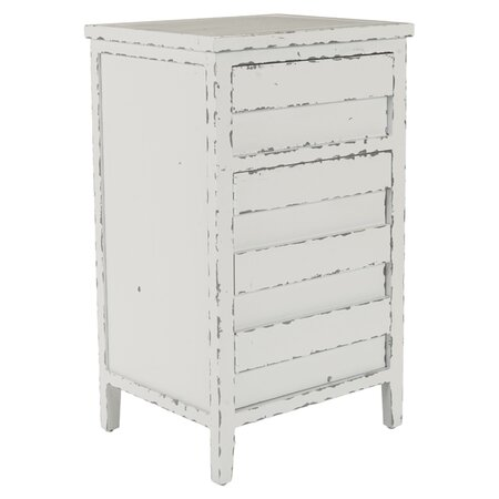 Ryan 4 Drawer Chest in Distressed White