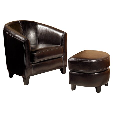 Bayview Chair & Ottoman Set in Espresso