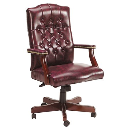 Traditional High-Back Office Chair I in Oxblood