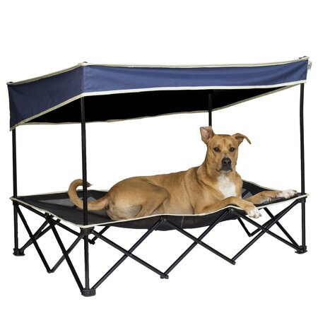 Dog canopy bed portable outdoor pet tent house puppy - Outdoor dog beds with canopy ...
