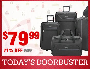IZOD® 5-Piece Luggage Set Blowout