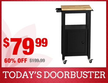 1-Door Wood Kitchen Cart