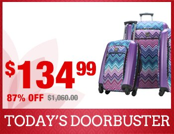 3-Piece Chevron Spinner Luggage Set