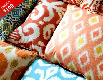 Pillows, Poufs & More Under $100