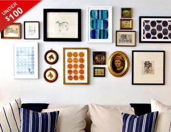 Easy Gallery Wall: Art Under $100