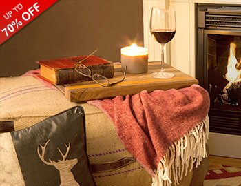 Get Cozy: Fireplaces, Throws & More
