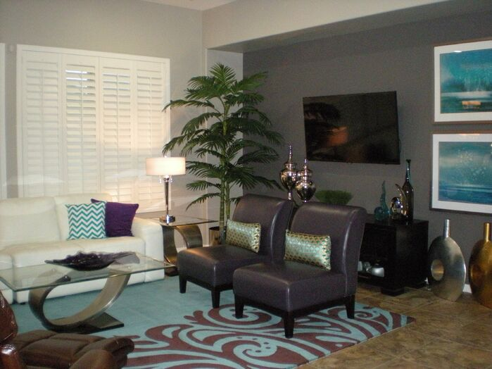 Contemporary Living Room photo by Center Stage Interiors