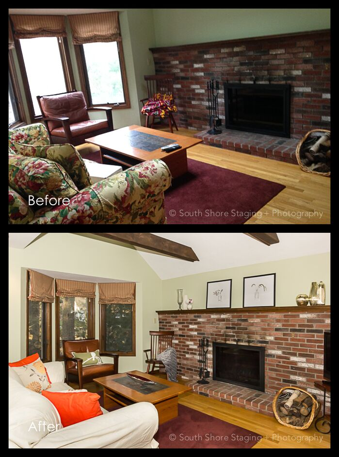 Cottage/Country Living Room photo by South Shore Staging and Photog